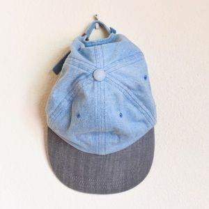 Urban Outfitters jean flat brim cap