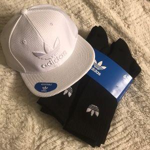 Adidas cap and socks
