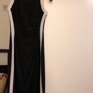 Ralph Lauren Black and White Formal Dress