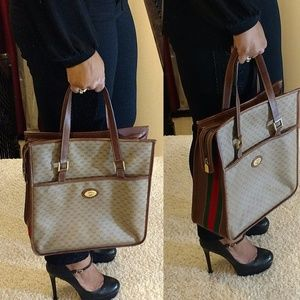 Authentic Vintage Sherry Line Gucci Handbag
