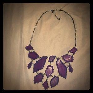 Purple Goth chandelier necklace