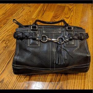 Coach Soft Pebble Leather Satchel Black