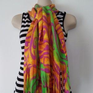 New Handmade Lightweight floral fleeces Scarf Warm