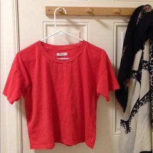 Madewell crop tee shirt