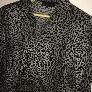 Jones New York leopard blouse.