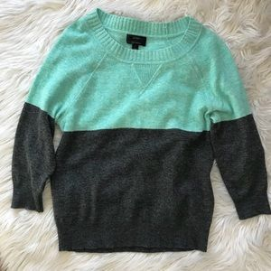 J. Crew Colorblock Crew Neck Cashmere Sweater