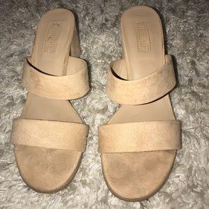 Nude/Tan Block Heels