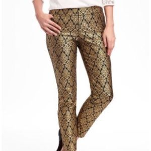 Old navy pixie ankle foil brocade print pants 4