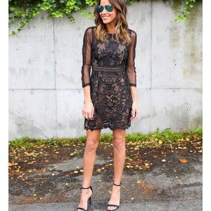 My Forever Lace Dress-black
