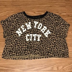 NYC Leopard Print Crop Top