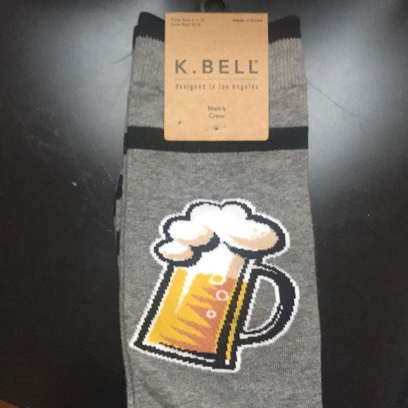 0d4a63e73073 K. Bell Accessories | K Bell Gray Black Stripe Beer Socks Nwt | Poshmark