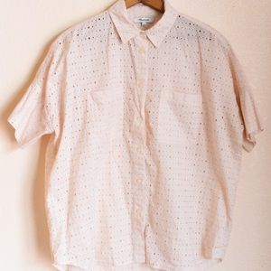 Madewell button-down, short-sleeve top