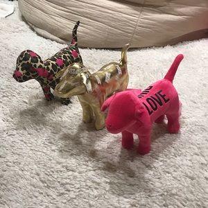 Bundle of 3 Victoria's Secret PINK dogs
