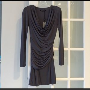 Black Halo long sleeve dress