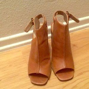 Steve Madden Cognac block heels