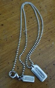 Silver COACH Necklace