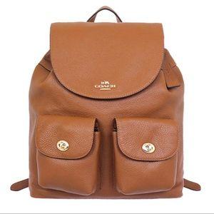 COACH   Bag Billie Saddle Pebble Leather Backpack
