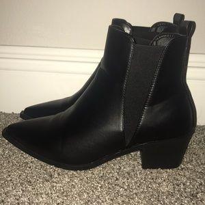 Black Pointed Toe Booties!!
