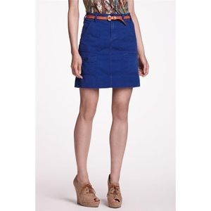 Anthropologie Twill Cargo Skirt