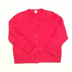 J.Crew - 100% Cashmere Cable Knit Cardigan