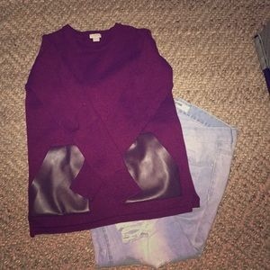 J. Crew sweater (Burgundy and Brown)