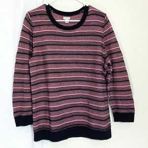 J.crew pink and blue sweater XL / 14