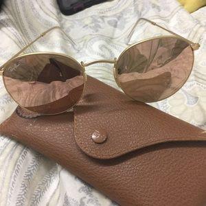 Rose Gold Ray Ban Sunglasses