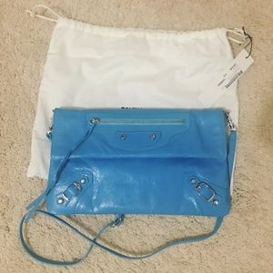 New Balenciaga giant 12 envelope leather clutch