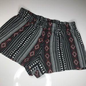 Forever 21 tribal print/ Aztec print shorts
