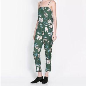 ZARA Floral Print Jumpsuit