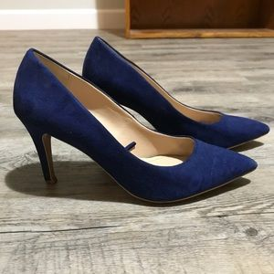 Zara dark blue classic pump heels Sz 36