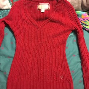 American eagle red sweater.