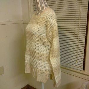 Cream/tan High low sweater nwot