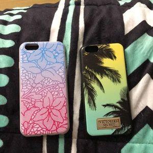 2 Victoria Secret Cases IPhone 6,6s,7