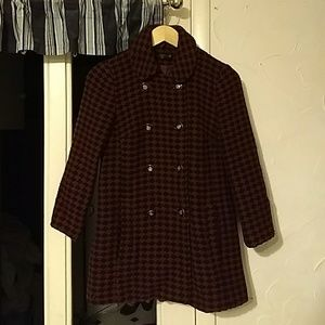 Topshop Houndstooth Checked Coat