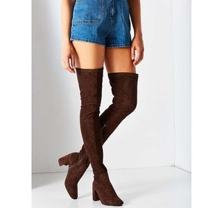 Jeffery Campbell Brown Cienega Over the knee Boot