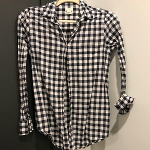 J Crew gingham top size xsmall