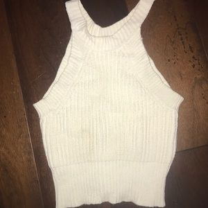 Lf white knitted tank