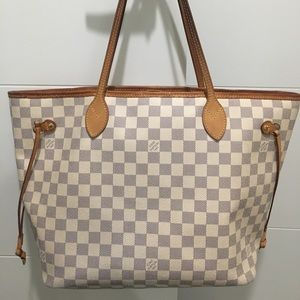 louis vuitton neverfull white. authentic louis vuitton neverfull mm (medium) white t