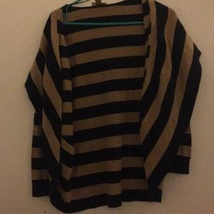 Brown and black stripped cardigan.