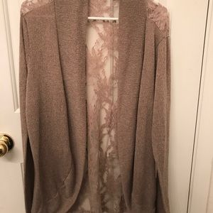 Forever 21+ long tan colored cardigan size 1x