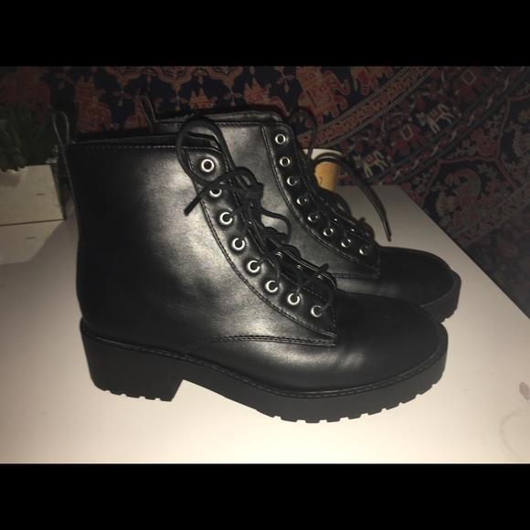 H\u0026M Shoes   Hm Black Combat Boots