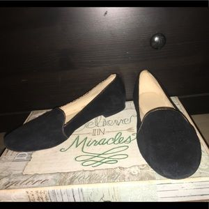 coach new york black flats