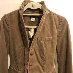 NWT J.Crew Corduroy Blazer w. Tweed Collar detail