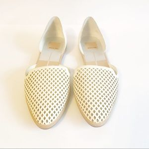 dv Dolce Vita Pointy Toe Flats Perforated Cut Out