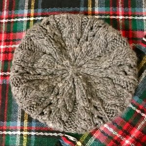 Heather Grey Knitted Beret