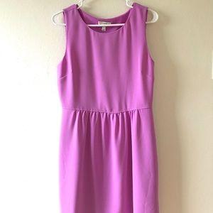 J. Crew orchid/violet color crepe dress - Sz 8