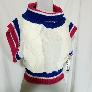 💥Vintage💥retro 80s cropped sweater s/m