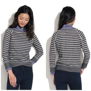 Madewell striped smoke shadow sweatshirt