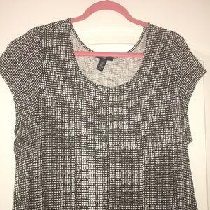 🍉 BUNDLE ONLY 🍉 black/white patterned shirt, XL